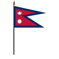 Nepal Mounted Flags - 4in x 6in