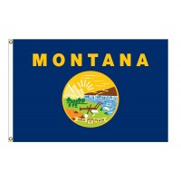 Nylon Montana State Flags