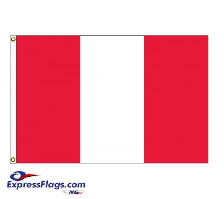 Peru Nylon Flags (No Seal)PER-NYL-2