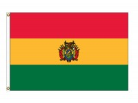 Bolivia with Seal Nylon Flags - (UN, OAS Member)