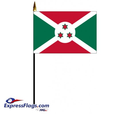 Burundi Mounted Flags - 4in x 6in030700