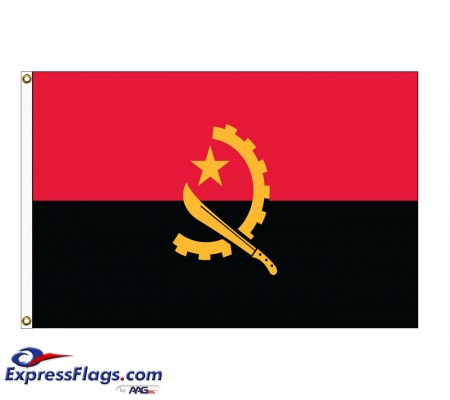 Angola Nylon Flags (UN Member)AGO-NYL