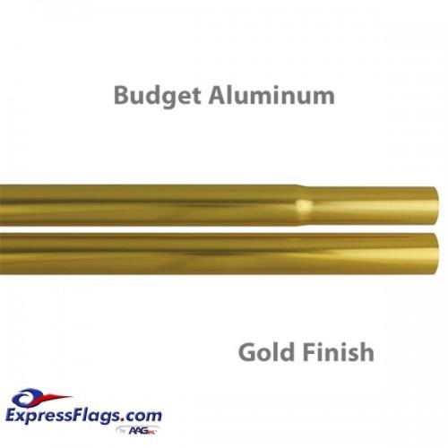 Budget Aluminum Indoor Poles - Gold FinishBPA-G