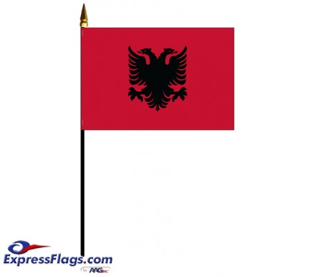Albania Mounted Flags - 4in x 6in030061