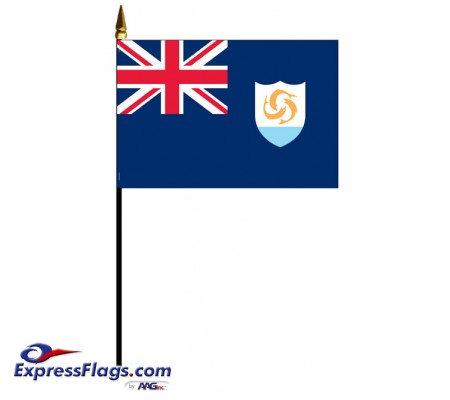 Anguilla Mounted Flags - 4in x 6in030142