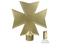 Metal Maltese Cross Ornament for Indoor Display Flagpoles