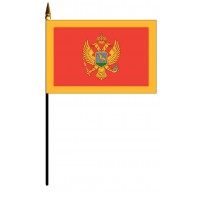 Montenegro Mounted Flags - 4in x 6in