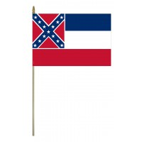 Mounted Mississippi State Flags