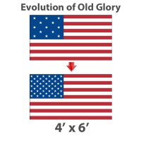4' x 6' Evolution of Old Glory American Historical Flags - Nylon