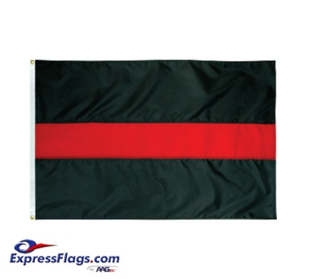 Thin Red Line Flag - 3  x 5  Endura-Nylon070477