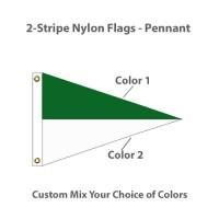 2-Stripe Nylon Flags - Pennant