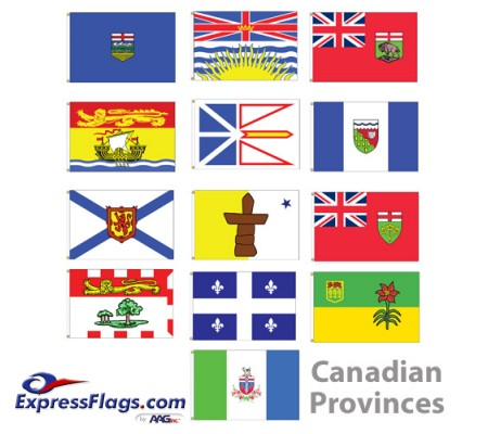 3  x 5  Canadian Provinces Nylon FlagsCP-NYL