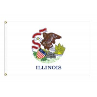 Nylon Illinois State Flags