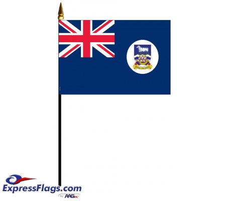 Falkland Islands Mounted Flags - 4in x 6in031468