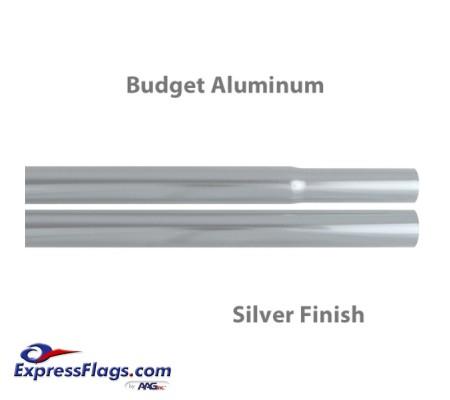 Budget Aluminum Indoor Poles - Silver FinishBPA-S