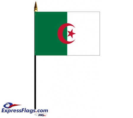 Algeria Mounted Flags - 4in x 6in030078