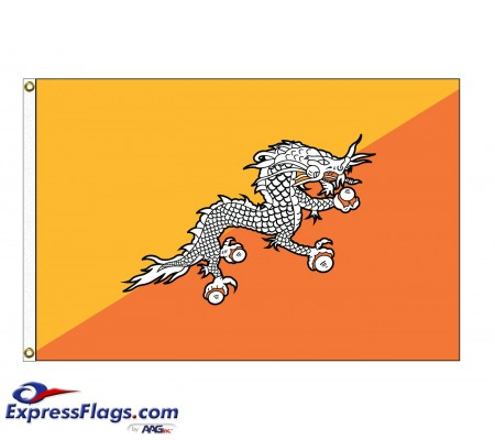 Bhutan Nylon Flags - (UN Member)BTN-NYL