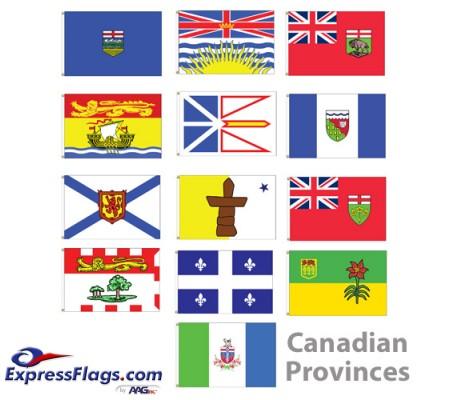3  x 5  Canadian Provinces Nylon FlagsCP-NYL