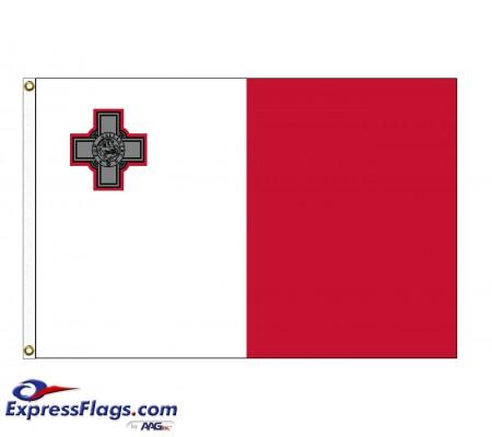 Malta Nylon Flags (UN Member)MLT-NYL