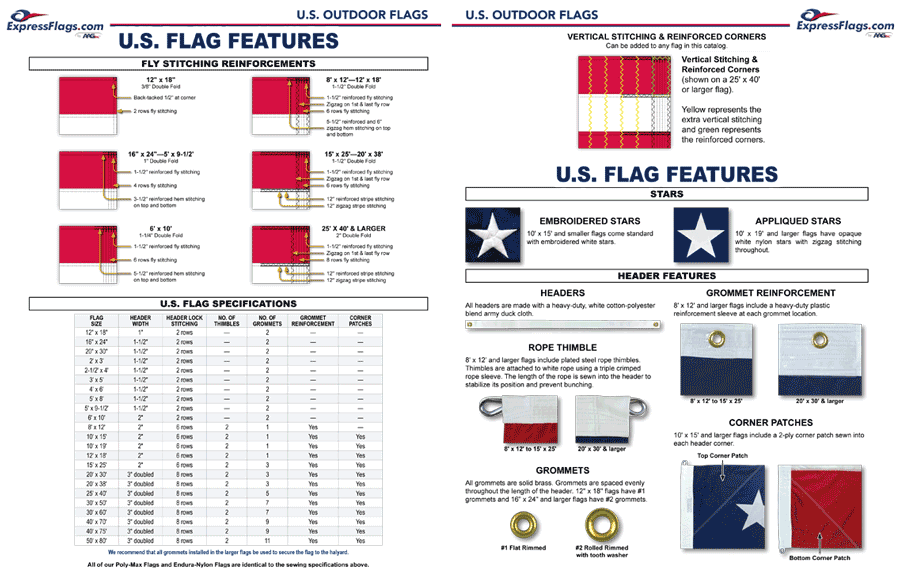 U.S. Flag Features & Specifications