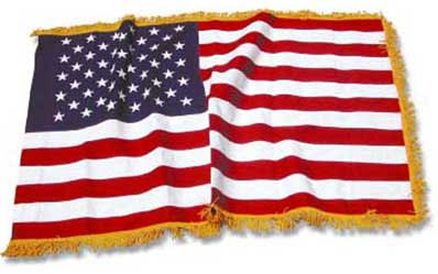 fringed american flag