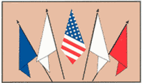 Flags on Adjacent Flagpoles